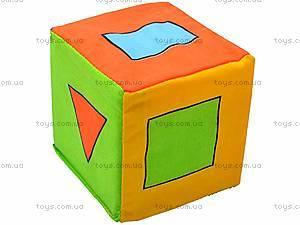 Мягкий кубик-погремушка, , фото