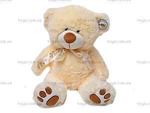 Мягкий медведь с бантом, S-JY-4051/40S, детские игрушки