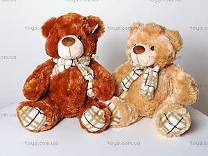 Мягкий медвежонок, с шарфом, S-YZ-4036