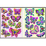 Мягкие наклейки 3D Бабочки, S-402, купить