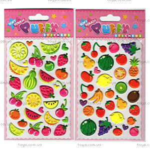 Мягкие наклейки «Фрукты и овощи», SMU-104