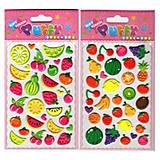 Мягкие наклейки «Фрукты и овощи», SMU-104, фото