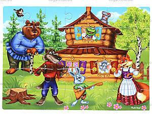 Мягкие пазлы «Сказки. Теремок», VT1102-15, игрушки