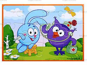 Мягкие пазлы А5 детские «Смешарики», VT1103-37, цена