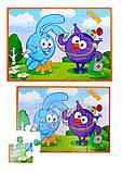 Мягкие пазлы А5 детские «Смешарики», VT1103-37