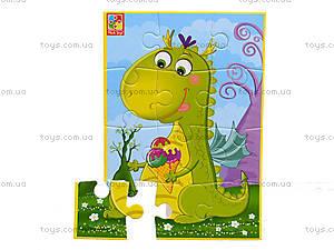Мягкие пазлы «Диномир. Зеленый динозавр», VT1103-50, купить