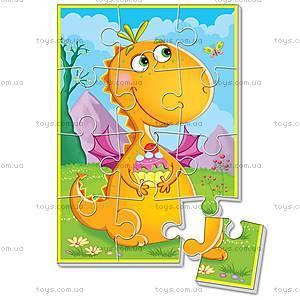 Мягкие пазлы «Диномир. Оранжевый динозавр», VT1103-51
