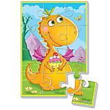 Мягкие пазлы «Диномир. Оранжевый динозавр», VT1103-51, фото