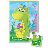 Мягкие пазлы «Диномир. Зеленый динозавр», VT1103-50, фото