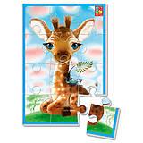 """Мягкие пазлы """"Жирафчик"""" А5, 12 элементов, VT1103-59, детские игрушки"""