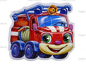 Мягкие пазлы «Любимые машинки», М414005Р, игрушки
