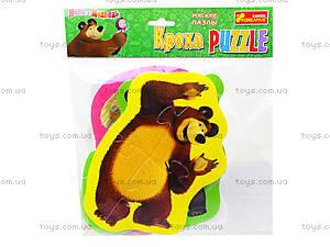 Мягкие пазлы «Медведь и Любимые герои», 3197, игрушки