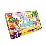 Мягкие пазлы «Пляжный волейбол», 35 элементов, S35-09-02, купить