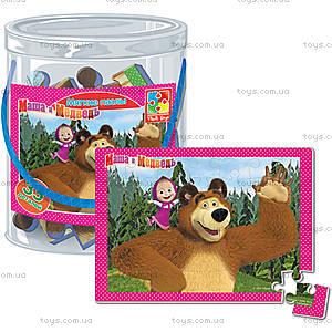 Детские мягкие пазлы «Маша и Медведь», А4, VT1104-14...17, отзывы