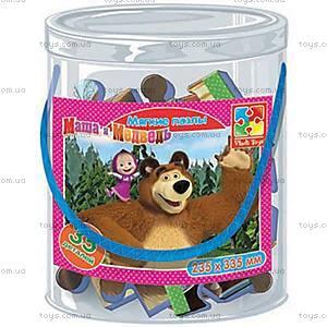 Детские мягкие пазлы «Маша и Медведь», А4, VT1104-14...17, игрушки