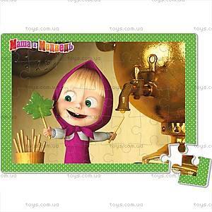 Детские мягкие пазлы «Маша и Медведь», А4, VT1104-14...17, toys.com.ua
