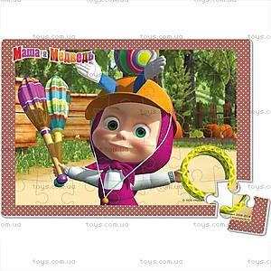 Детские мягкие пазлы «Маша и Медведь», А4, VT1104-14...17, toys