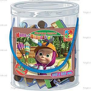 Детские мягкие пазлы «Маша и Медведь», А4, VT1104-14...17, іграшки