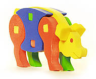 Мягкий детский пазл со свинкой, 314, фото