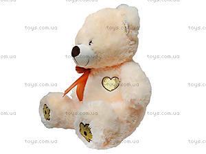 Мягкий медведь, с бантом, 134050, купить