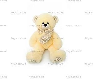 Мягкий медведь с бантом, молочный цвет, 639560