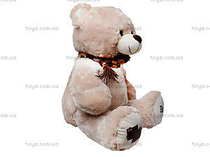 Мягкий медведь, с шарфом, 120260 молоч, фото