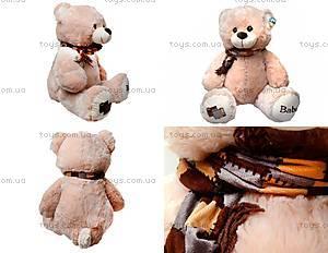 Мягкий медведь, с шарфом, 120260 молоч