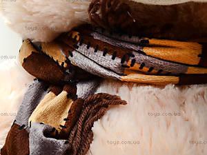 Мягкий медведь, с шарфом, 120260 молоч, цена