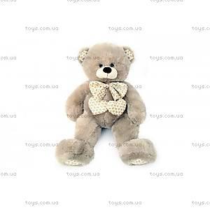 Мягкий медвежонок с бантом, серый, 639560