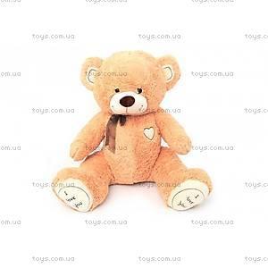 Мягкий медвежонок с бантиком, серый, 450590S