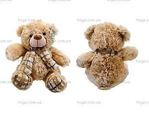 Мягкий медвежонок с шарфом для детей, S-YZ-403630SK
