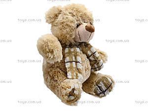 Мягкий медвежонок с шарфом для детей, S-YZ-403630SK, игрушки