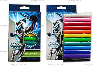 Мягкий пластилин Kite Max Steel, 12 цветов, MX14-086K
