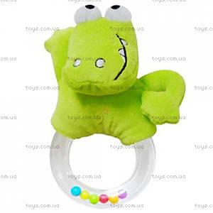 Мягкая игрушка-погремушка «Крокодильчик», 618JF crocodi