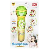 Микрофон музыкальный с эффектами желтый, 5832