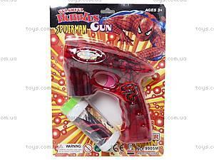 Мыльные пузыри и пистолет «Человек-паук», 9905M