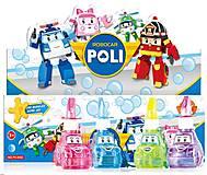 Мыльные пузыри Robocar Poli, 4 цвета, P6-0083, фото