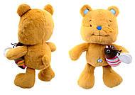 Детская игрушка «Мишка Ласунчик», К354В, фото