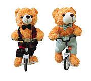 Мишка рыжий на велосипеде, R364