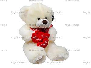 Музыкальный медвежонок с сердечками, 647965, игрушки