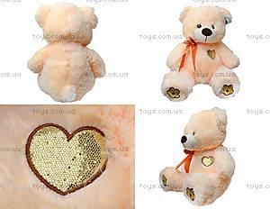 Медвежонок с бантом и цветами на лапках, 134060