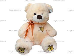 Медвежонок с бантом и цветами на лапках, 134060, детские игрушки