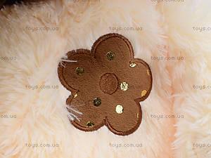 Музыкальный мишка с цветком, 40 см, 1406B40, купить