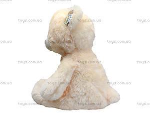 Музыкальный мишка с цветком, 40 см, 1406B40, детские игрушки