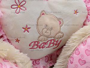 Музыкальный медвежонок с сердечком, 639640, магазин игрушек