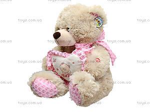 Музыкальный медвежонок с сердечком, 639640, toys.com.ua