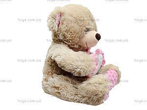 Плюшевый мишка с сердечком, 60 см, 639660, цена