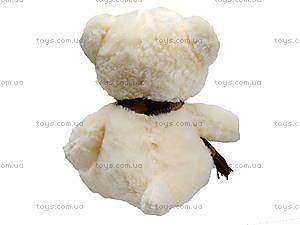 Мягкий мишка с шарфом, 30 см, 120230, купить