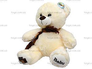 Мягкий медвежонок с шарфом, 60 см, 126960, фото