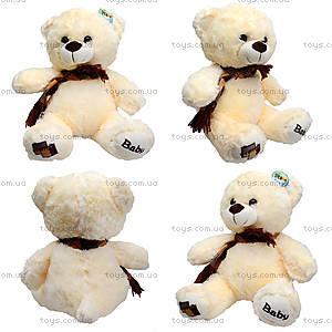 Мягкий медвежонок с шарфом, 60 см, 126960
